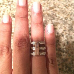 Michael Kors tri-stack ring size 6